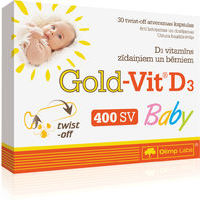 Gold Vit D3 Baby N30 twist-off kapsulās
